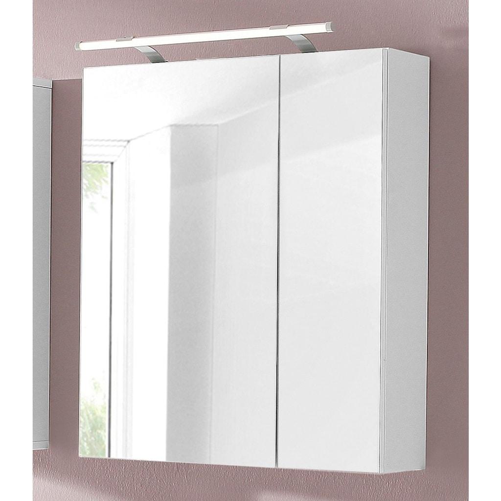 Schildmeyer Spiegelschrank »Dorina«, Breite 60 cm, 2-türig, LED-Beleuchtung, Schalter-/Steckdosenbox, Glaseinlegeböden, Made in Germany