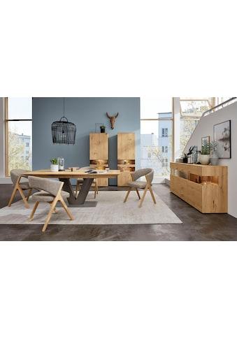 GWINNER Essgruppe »Anzio«, (Set, 5 tlg.), inkl. 4 Stühle wahlweise mit Stoff oder... kaufen