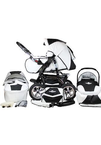 bergsteiger Kombi-Kinderwagen »Milano, black & white, 3in1«, 15 kg, Made in Europe kaufen