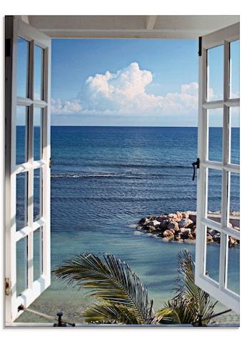 Artland Glasbild »Fenster zum Paradies« kaufen