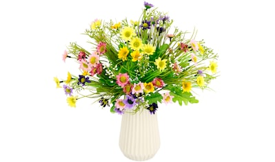 I.GE.A. Kunstblume »Margeriten-Mix«, Vase aus Keramik kaufen