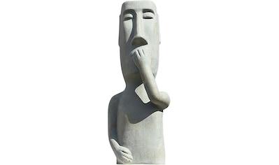 GILDE Dekofigur »Skulptur Nichts sagen«, Dekoobjekt, Höhe 65 cm, aus Keramik, Wohnzimmer kaufen