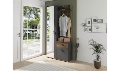 byLIVING Kompaktgarderobe »Jakob«, mit großem Spiegel und Ablage, Breite 97 cm kaufen