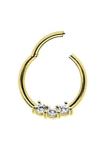 Adelia´s Nasenpiercing »Piercing Ring Smooth Segment Clicker mit Stein, Gold«, mit... kaufen