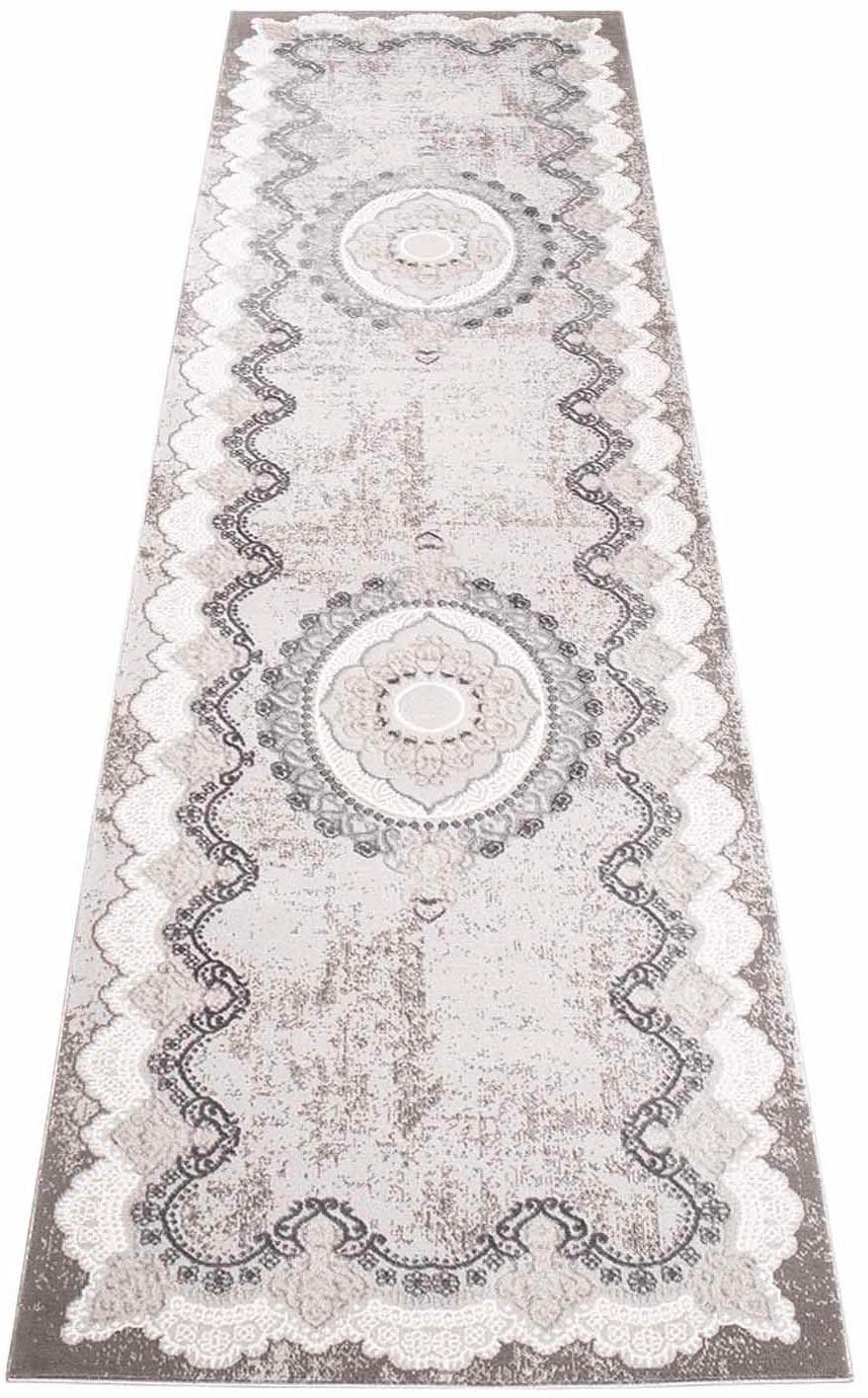 Läufer Platin 7742 Carpet City rechteckig Höhe 11 mm maschinell gewebt
