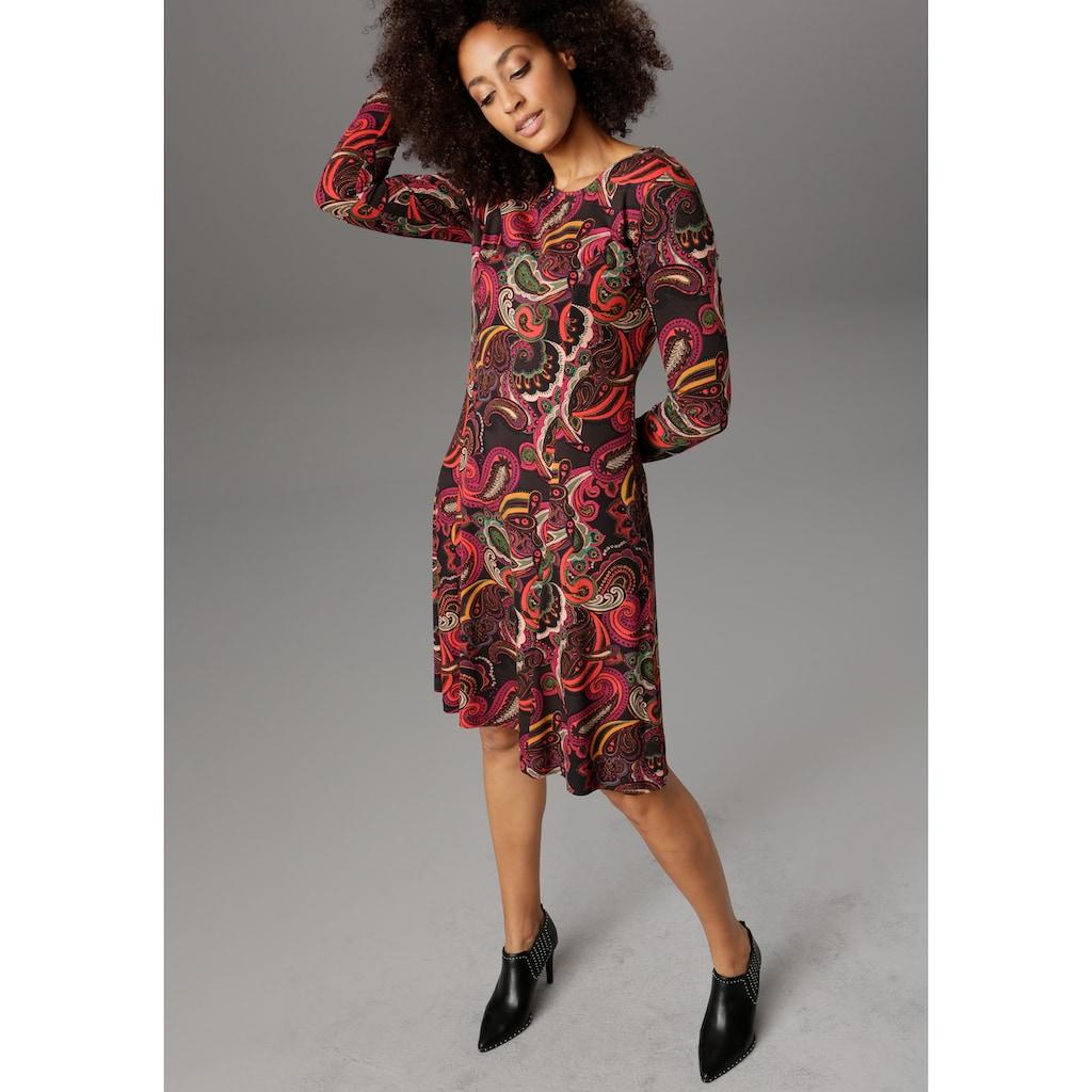 Aniston SELECTED Jerseykleid, Paisley-Druck in satten Farben