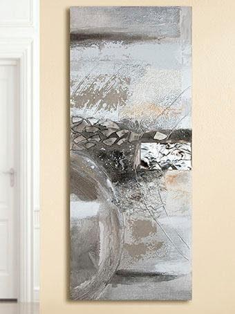 GILDE Leinwandbild Gemälde Abstract Wohnen/Accessoires & Leuchten/Wohnaccessoires/Bilder & Bilderrahmen/Leinwandbilder