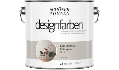 SCHÖNER WOHNEN FARBE Farbe »Designfarben«, Ästhetisches Betongrau Nr. 4, feinmatt 2,5 l kaufen