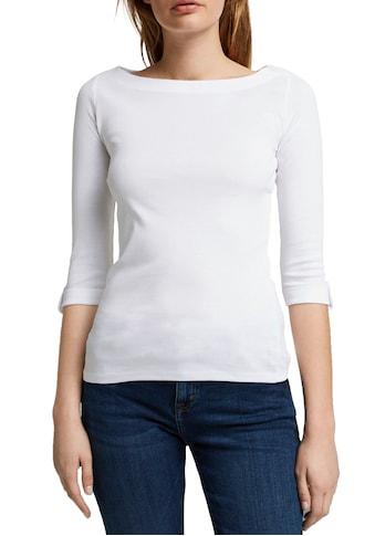 Esprit 3/4-Arm-Shirt, mit kleinem Rigel am Ärmelsaum kaufen