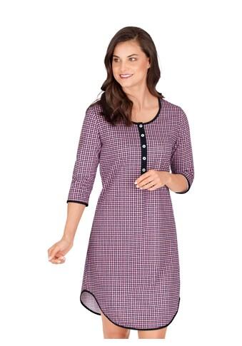 Trigema Nachthemd, mit Karo-Muster und Knopfleiste kaufen