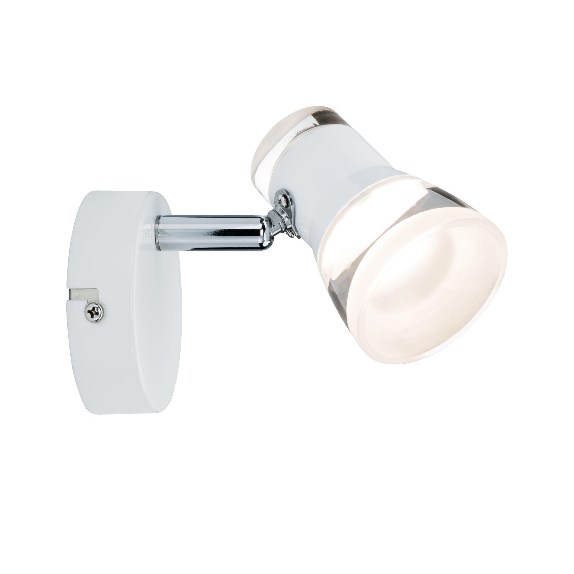 Paulmann,LED Wandstrahler Clear Weiß/Chrom 1-flammig inkl. Leuchtmittel 1x4,3W