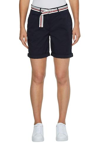 Tommy Hilfiger Shorts »CO TENCEL SLIM SHORT«, zum krempeln mit Gürtel in den typischen... kaufen