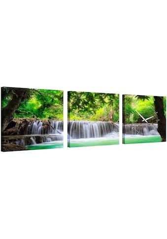 Conni Oberkircher´s Bild »Waterfall in the Forest«, Wasserfall, (Set), mit dekorativer... kaufen