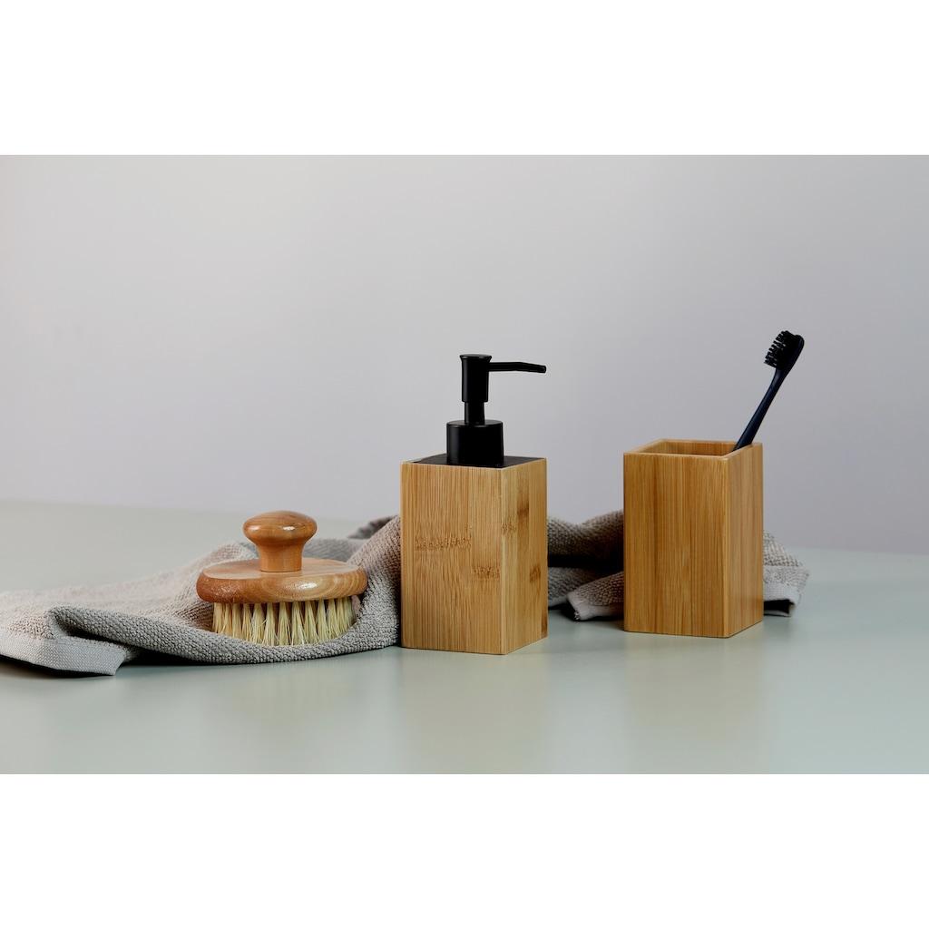 WENKO Seifenspender »Padua«, Bambus, 210 ml