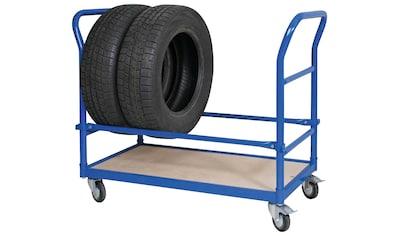 Reifenwagen, LxBxH 1140x500x890 mm, 4 Lenkrollen, 2 mit Feststellbremse kaufen