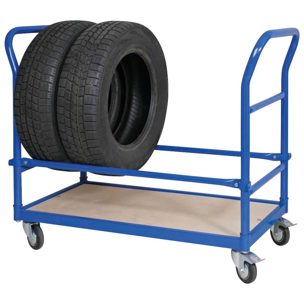Reifenwagen, LxBxH 1140x500x890 mm, 4 Lenkrollen, 2 mit Feststellbremse