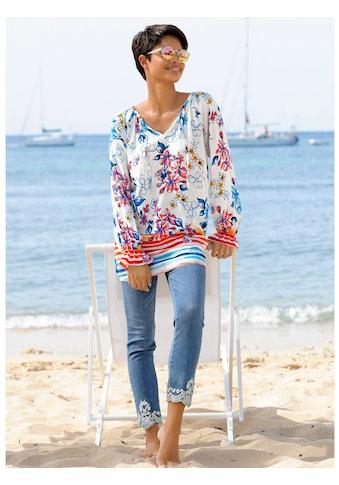Alba Moda Strandbluse in sommerlichem Druck kaufen