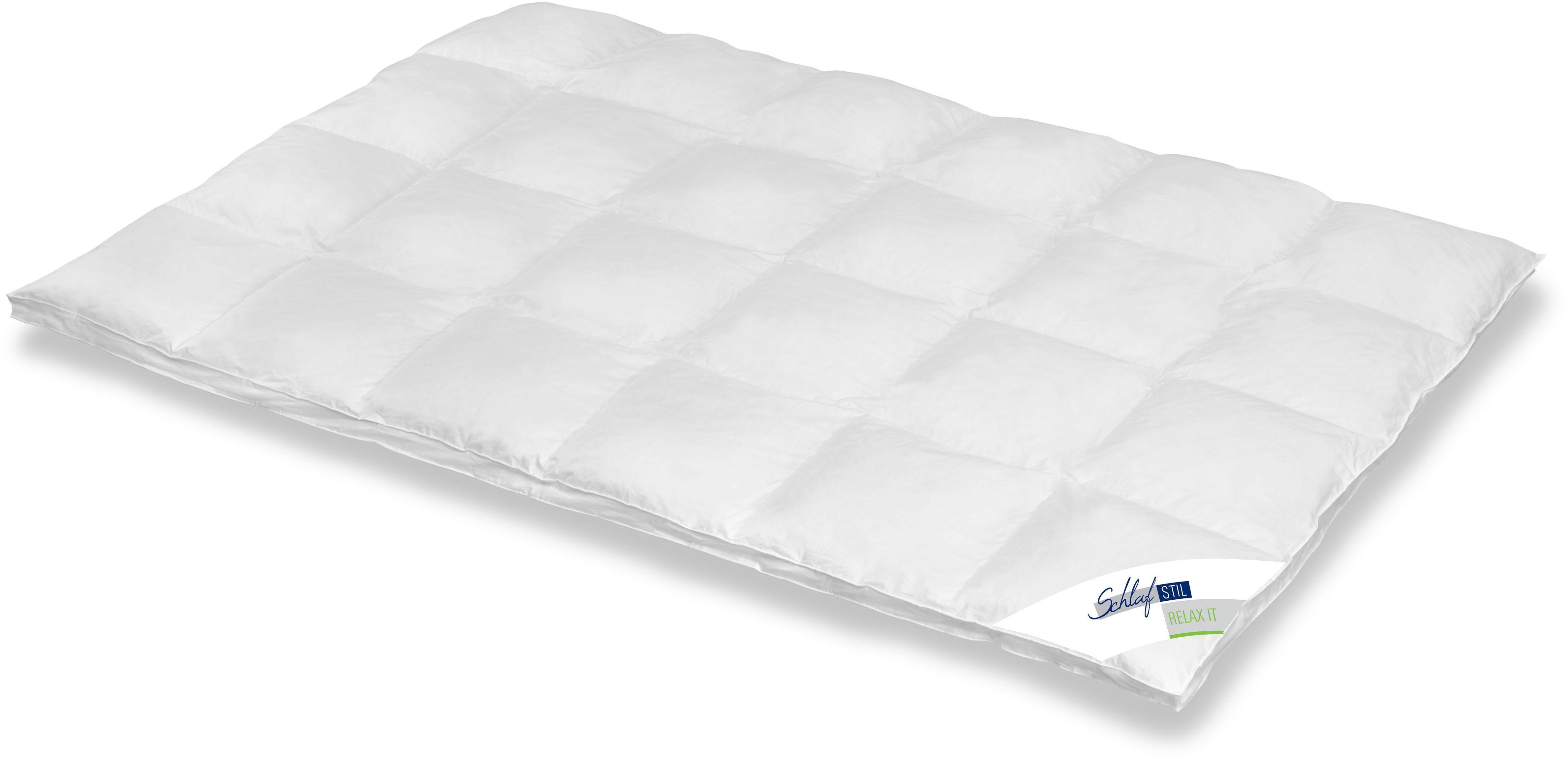Daunenbettdecke Relax It Schlafstil extrawarm Füllung: 60% Daunen 40% Federn Bezug: 100% Baumwolle