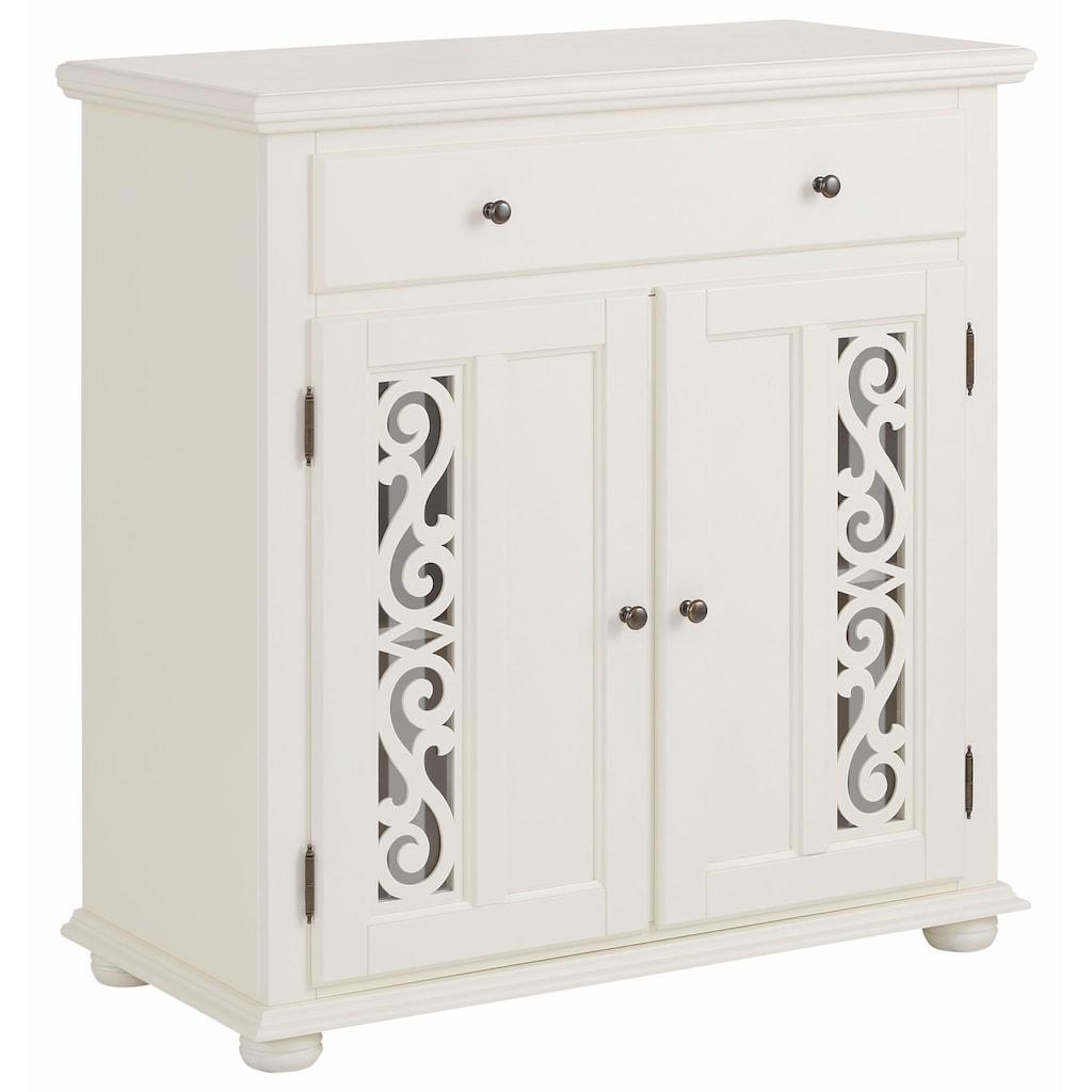 Premium collection by Home affaire Kommode »Arabeske«, mit schönen dekorativen Fräsungen auf den Türfronten, Breite 90 cm