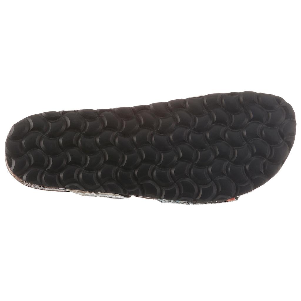 Bio Time Pantolette, mit Reptilienprägung