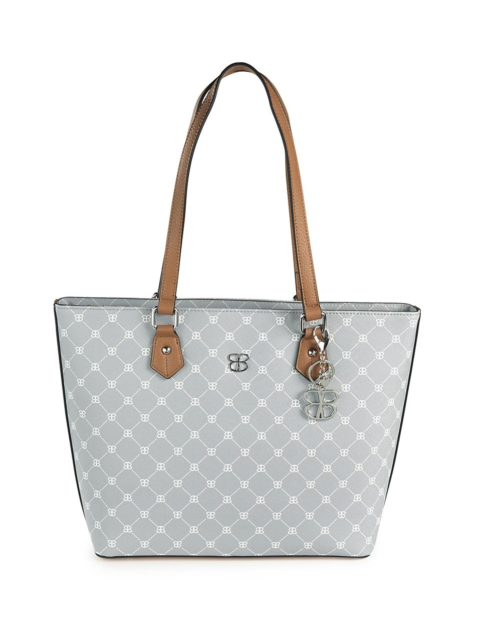 basler -  Handtasche mit Schmuckkarabiner und Logo-Muster