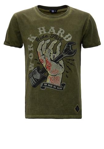 KingKerosin Print - Shirt »Work Hard« kaufen