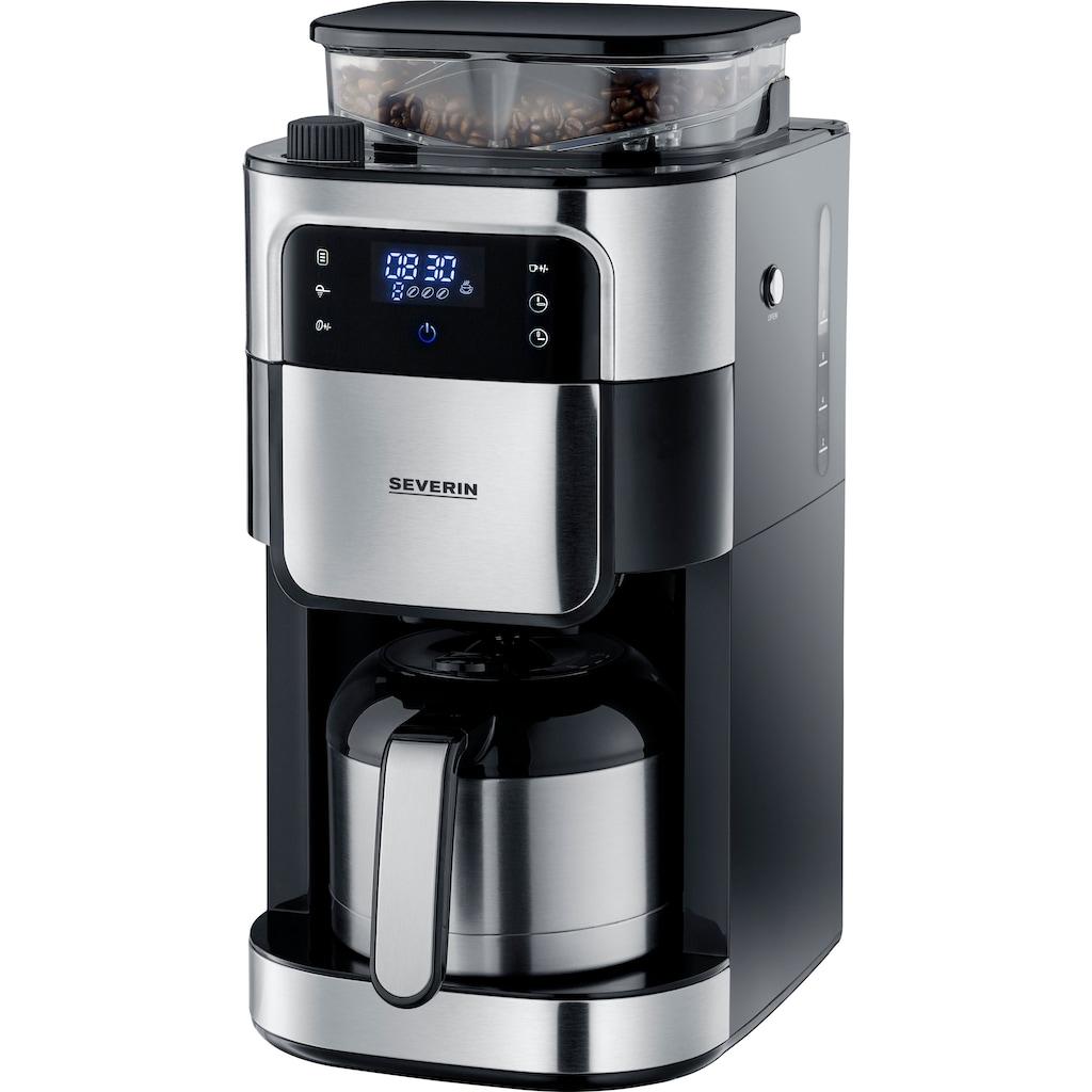 Severin Kaffeemaschine mit Mahlwerk KA 4814, Permanentfilter 1x4