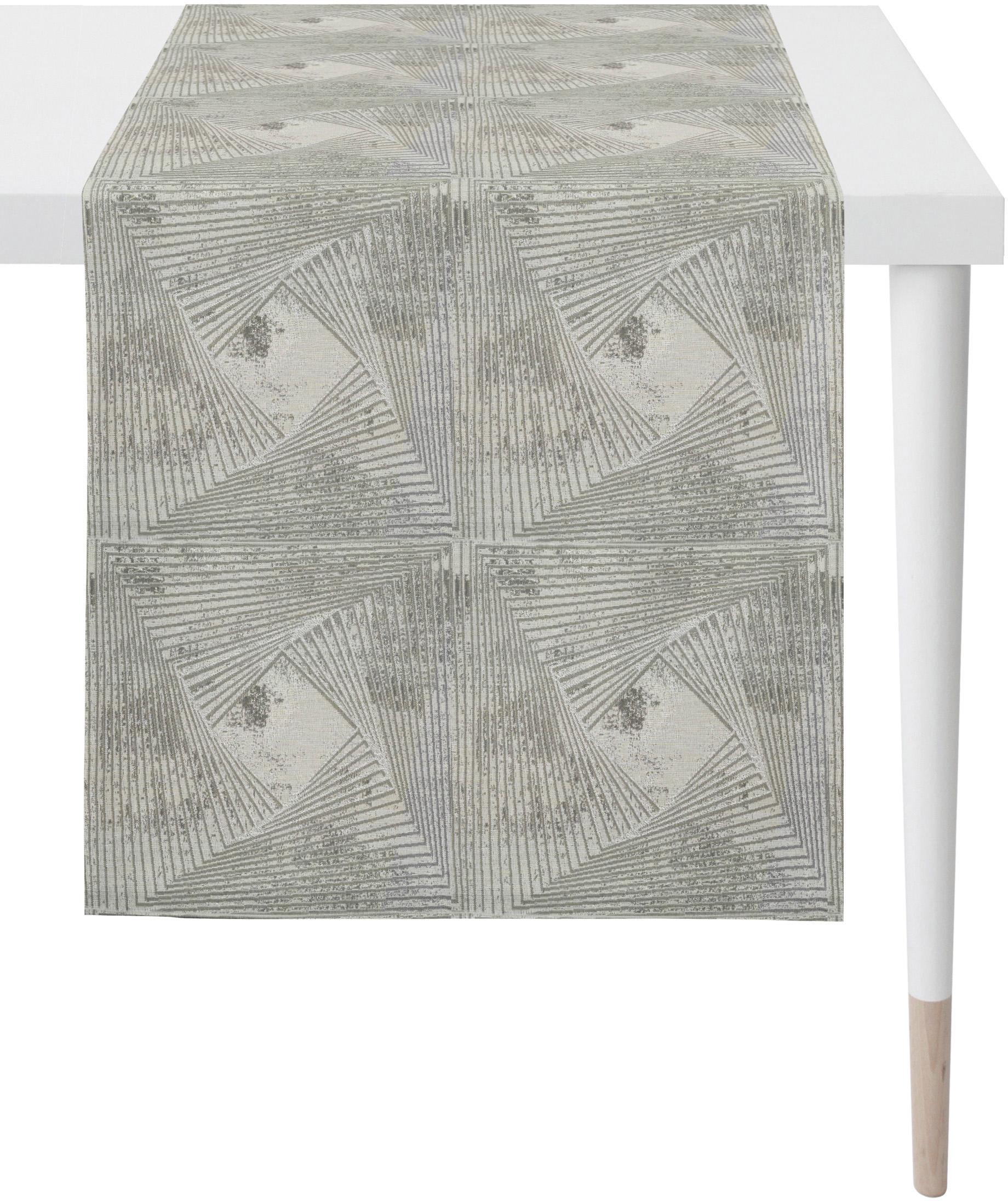 Tischläufer 1307 Loft Style Jacquard APELT (1-tlg) | Heimtextilien > Tischdecken und Co > Tischläufer | Beige | Apelt