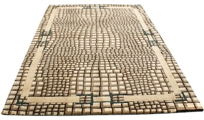 morgenland Wollteppich »Gabbeh Teppich handgetuftet mehrfarbig«, rechteckig, 18 mm Höhe kaufen