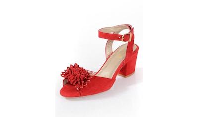 Alba Moda Sandalette aus weichem Ziegenveloursleder kaufen