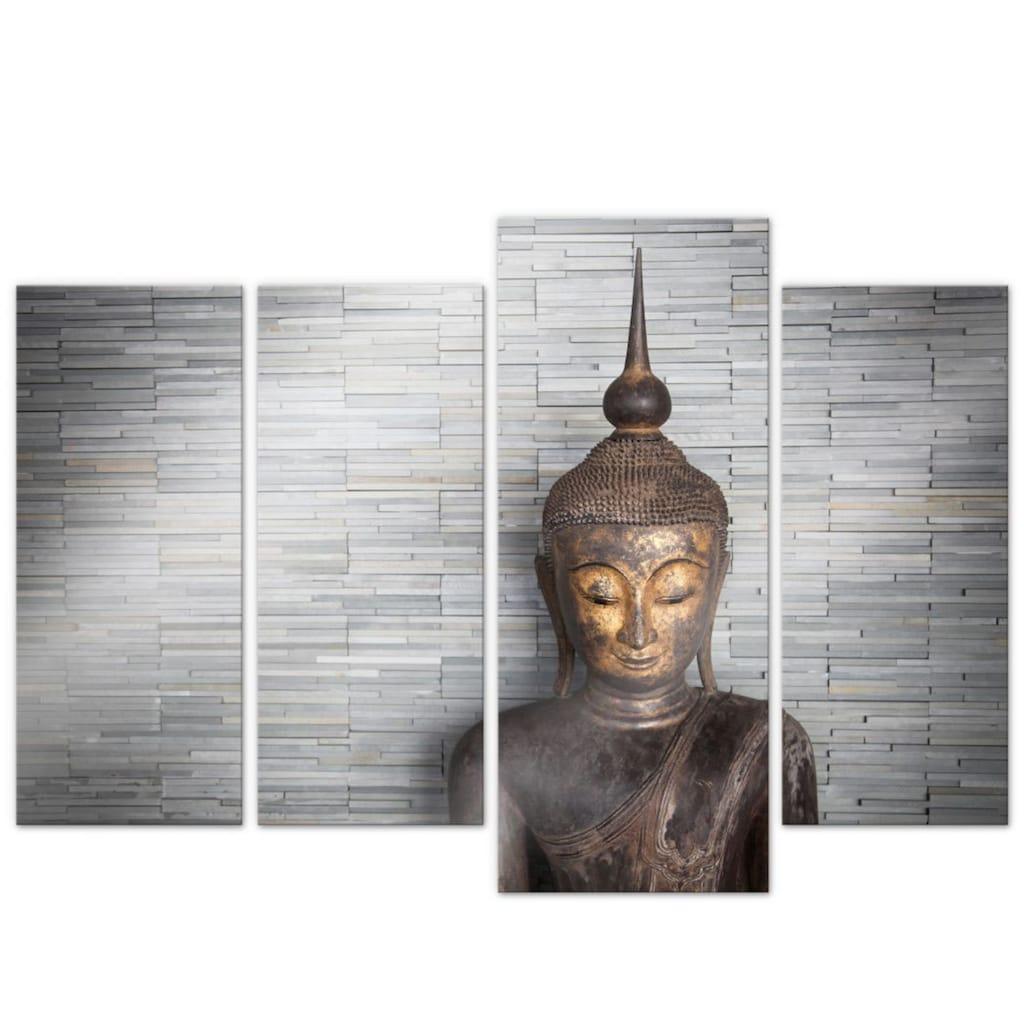 Wall-Art Mehrteilige Bilder »Thailand Buddha Set (4-teilig)«, (Set, 4 St.)