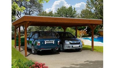 Skanholz Doppelcarport »Spessart«, Leimholz-Nordisches Fichtenholz, 550 cm, braun kaufen