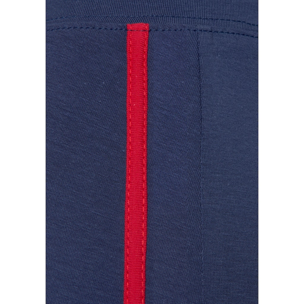 H.I.S Leggings, Seitliche Streifeneinsätze in Kontrastfarben