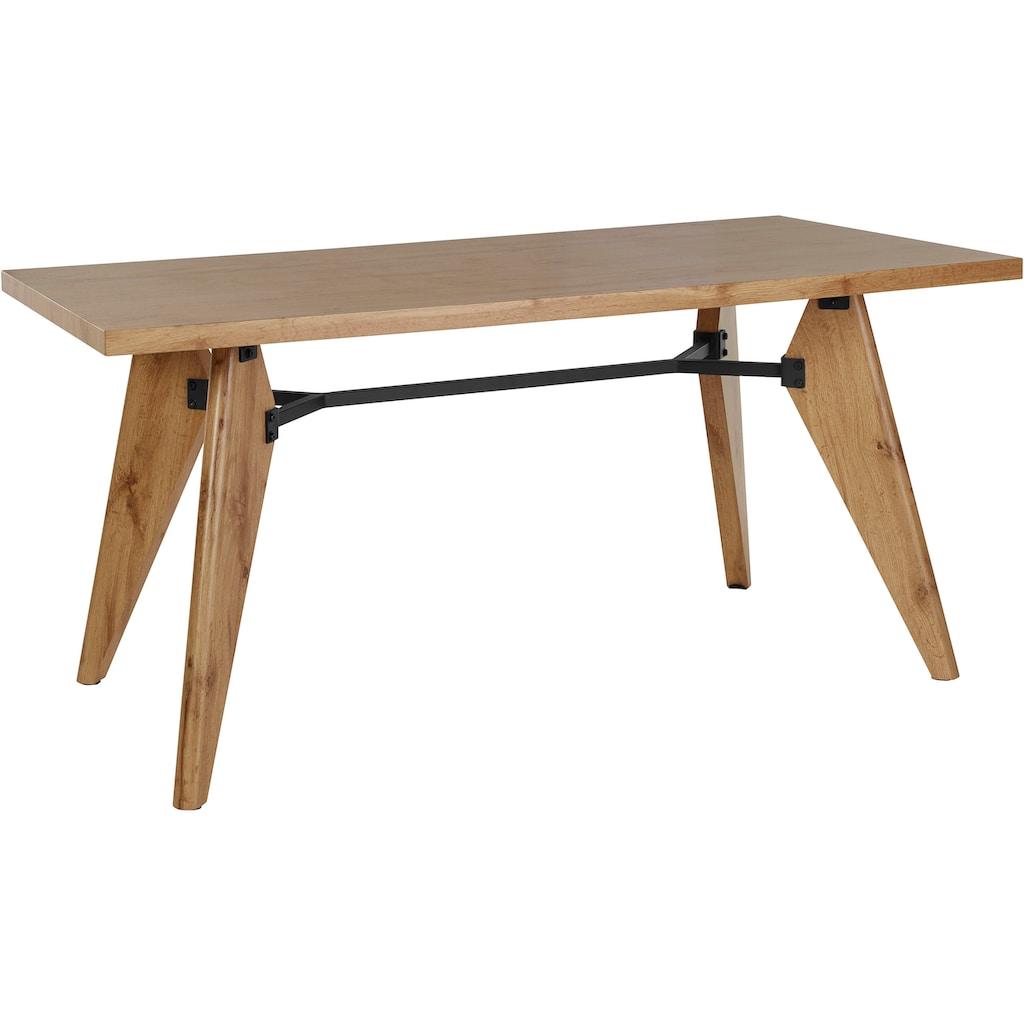 INOSIGN Esstisch »Ivan«, mit einer schönen folierten Holzoptik, in zwei verschiedenen Tischbreiten, pflegeleichte Oberflächen