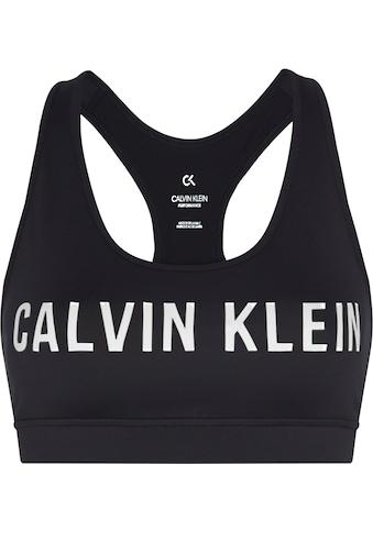 Calvin Klein Performance Sport-Bustier »MEDIUM SUPPORT SPORTS BRA«, mit Trägern für mittelstarken Halt & Calvin Klein Logo-Schriftzug kaufen