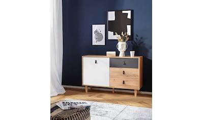 Homexperts Sideboard »Bristol«, Breite 120 cm oder 180 cm, mit massiven Eichefüßen kaufen