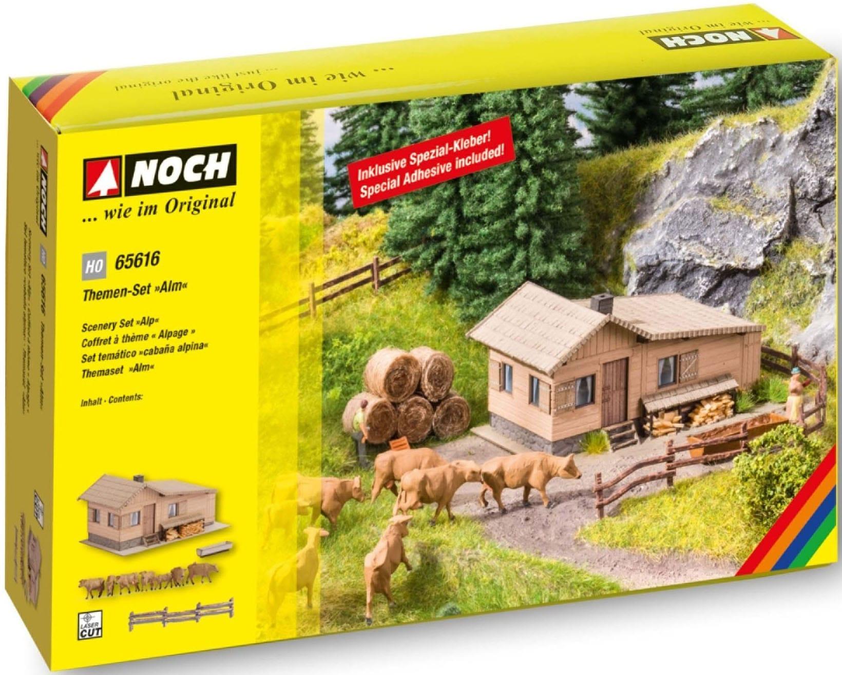 NOCH Modelleisenbahn-Gebäude Alm bunt Kinder Schienen Zubehör Modelleisenbahnen Autos, Eisenbahn Modellbau