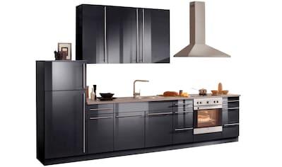 wiho Küchen Küchenzeile »Chicago«, mit E-Geräten, Gesamtbreite 340 cm kaufen