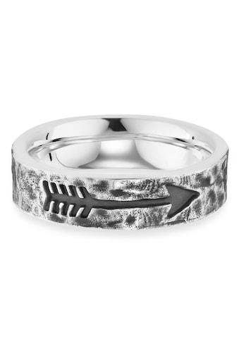 CAÏ Fingerring »925/- Sterling Silber rhodiniert matt Pfeil«, Ring kaufen