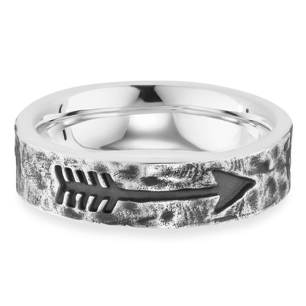 CAÏ Fingerring »925/- Sterling Silber rhodiniert matt Pfeil«, Ring