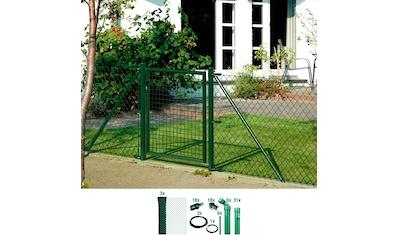 GAH ALBERTS Set: Maschendrahtzaun 100 cm hoch, 75 m, grün beschichtet, zum Einbetonieren kaufen