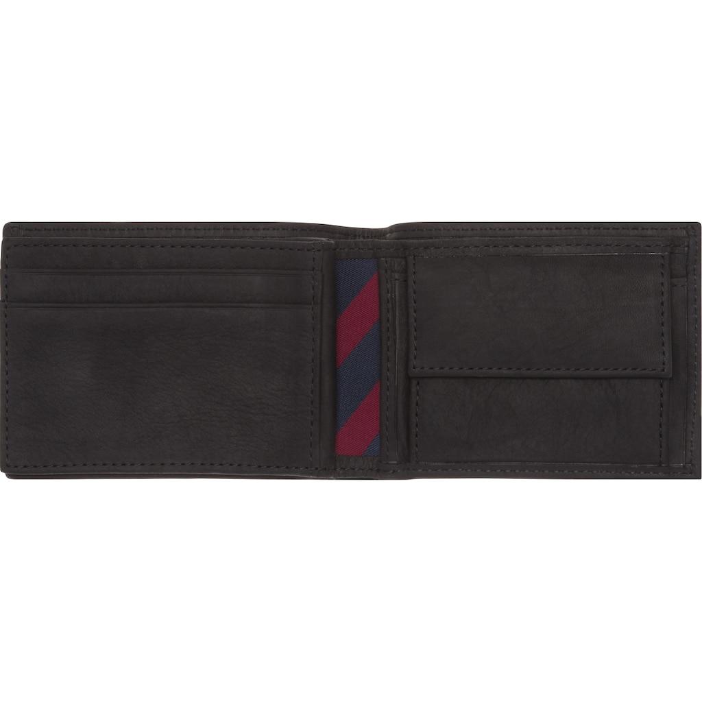 Tommy Hilfiger Geldbörse »JOHNSON MINI CC FLAP COIN POCKET«, aus hochwertigem Leder