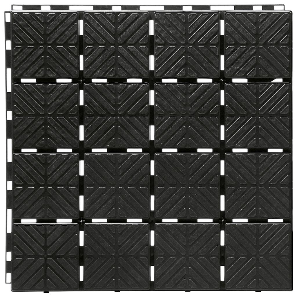 Prosperplast Terrassenplatten »Easy square S411«, Klickfliesen