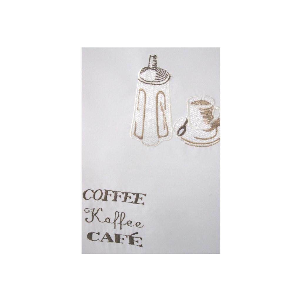 ELBERSDRUCKE Scheibengardine »Espresso«, HxB: 48x140