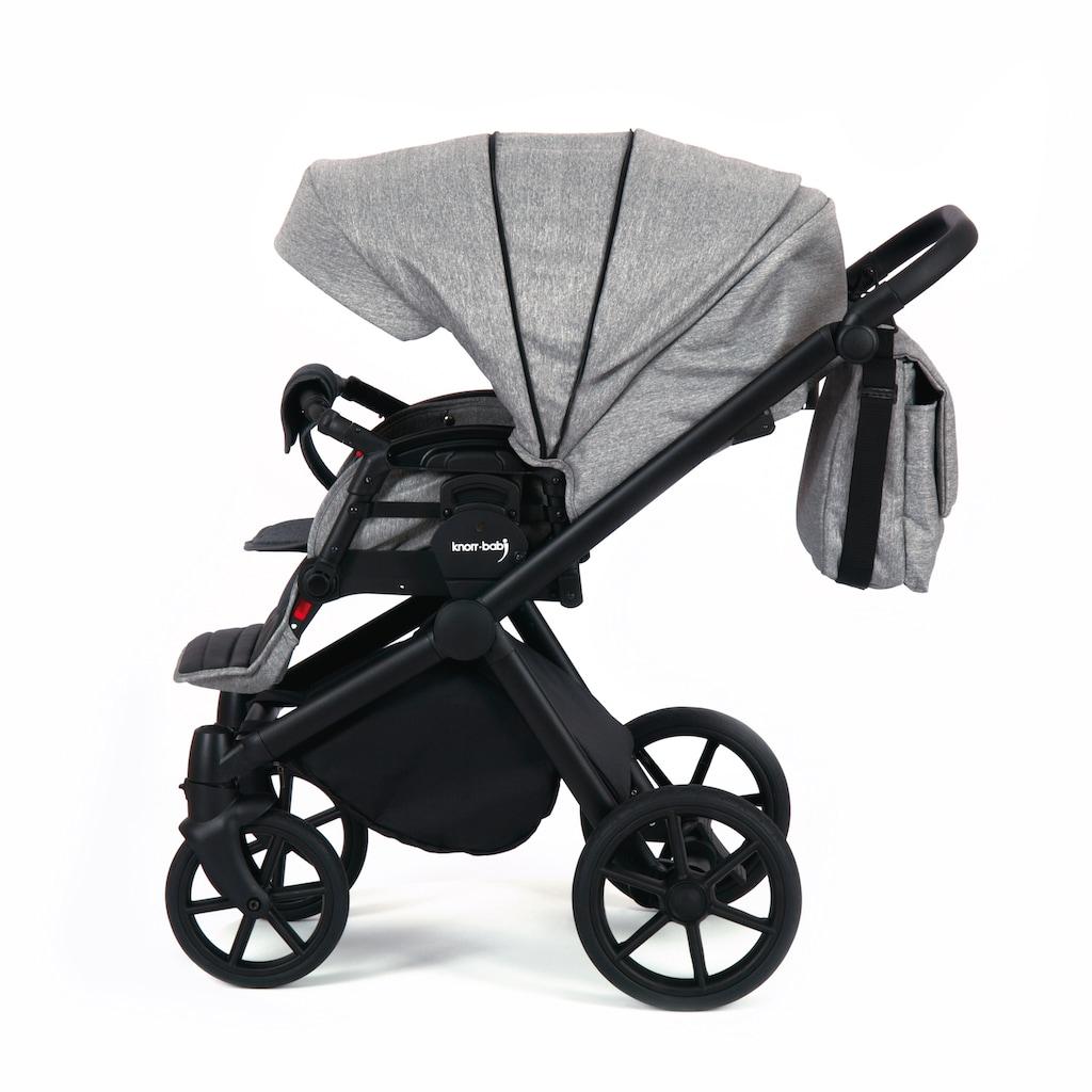 Knorrbaby Kombi-Kinderwagen »Life+ 2.0 Black Edition, Graphit«, 15 kg, Gestell faltbar; Made in Europe; Kinderwagen