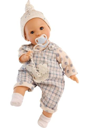 Schildkröt Manufaktur Babypuppe »Schnullerbaby Lenchen, blaue Augen, hellblau/weiß«,... kaufen