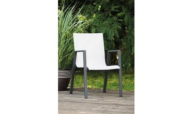 Greemotion Stapelstuhl »Jarvi«, 2er Set, Aluminium, stapelbar, weiß kaufen