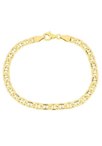 Firetti Armband »Stegpanzerkettengliederung, 4,8 mm, glänzend, 2-fach diamantiert« kaufen