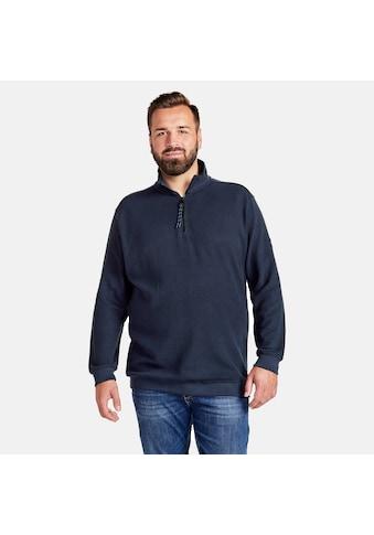 LERROS Sweatshirt »Troyer«, in Großen Größen, unifarben kaufen