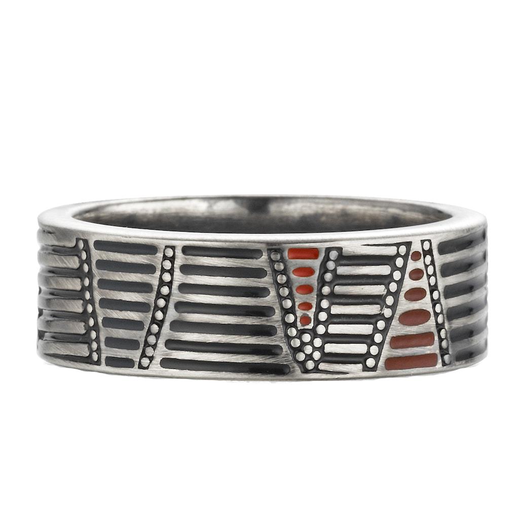 CAÏ Ring »925/- Sterling Silber oxidiert Australien«